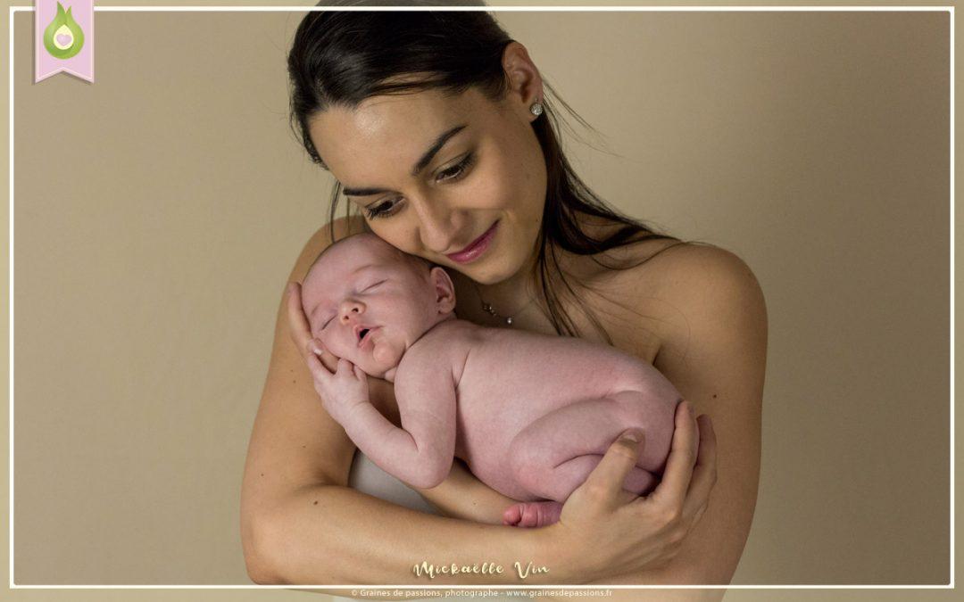 Séance photo avec bébé